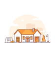 nice cottage - modern thin line design style vector image vector image
