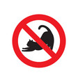 no cat sign vector image vector image
