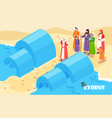 noah flood bible background vector image vector image