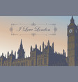 postcard with palace of westminster in london vector image vector image