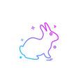 rabbit icon design vector image vector image