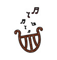 romantic harp note music instrument vector image