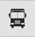 school bus icon isolated on transparent background vector image vector image