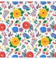 seamless floral pattern with cherry vector image vector image