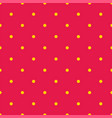 seamless pattern or texture with yellow polka dots vector image