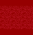 seamless pattern with hearts valentine background vector image vector image