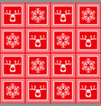 seamless red checkered christmas pattern vector image vector image