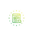 sem search engine marketing linear icon vector image vector image