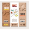 Set of banners on cardboard in hand drawn style vector image