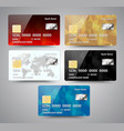 set of realistic detailed credit cards with vector image vector image