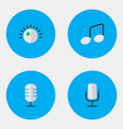 set of simple icons elements regulator music sign vector image vector image