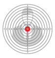 shooting target icon vector image