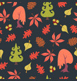 simple flat forest pattern vector image vector image