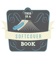 Softcover Book vector image vector image
