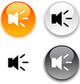 Sound button vector image vector image