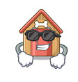 super cool cartoon dog house and bone isolated vector image