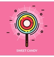 Sweet Candy Flat Poster vector image