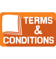Terms and Conditions Sign Icon vector image vector image