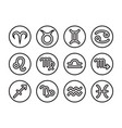 thin line horoscope icon set vector image vector image