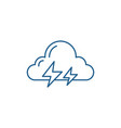 thunderstorm line icon concept thunderstorm flat vector image vector image