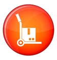 Truck with cargo icon flat style vector image vector image