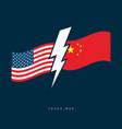 usa and china trade war concept vector image vector image