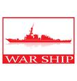 Warship vector image vector image