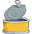 yellow tin vector image vector image