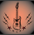 guitar lightning stars hand drawing vector image