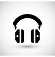 Isolated headphones icon vector image