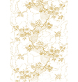 9 Abstract hand-drawn floral pattern vintage vector image vector image