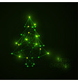 Abstract christmas tree made from light lines and