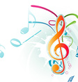 Abstract Colorful Music Note vector image
