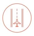 Airport runway line icon vector image vector image