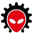Alien Technology Flat Icon vector image vector image