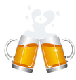 Beer mugs cheers vector image