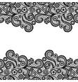 black lacy vintage elegant trim seamless lace vector image vector image
