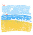 blue seascape with beach and sky vector image vector image