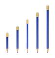 Blue wooden sharp pencils vector image vector image