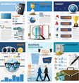 Business And Financial Chart Diagram Infographic vector image vector image