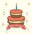 cake candle sweet happy birthday desing isolated vector image vector image