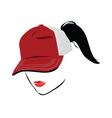 cap with ponytail vector image vector image