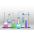 chemical laboratory experiment cartoon vector image vector image