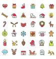 christmas theme colorful icons vector image
