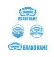 classic car wash logo vector image vector image