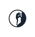 climbing silhouette logo circle vector image