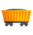coal train wagon icon cartoon style vector image vector image