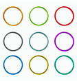 color abstract circles loops logo elements vector image vector image