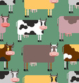 Cow seamless pattern Background of animals Herd of vector image vector image