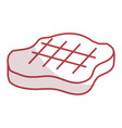 cut beef meat icon vector image